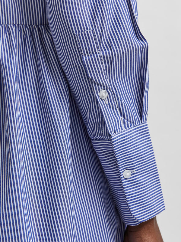 Selected Femme Mirabella Striped Dress in White & Blue
