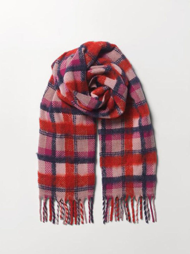 Becksondergaard Check Sillian Scarf in Red
