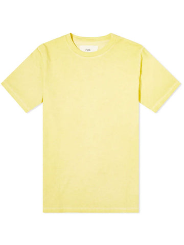Folk Contrast T-Shirt in Light Gold