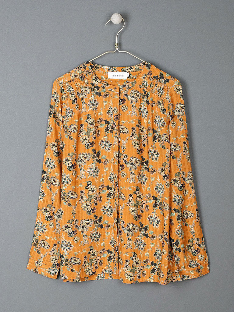 Indi & Cold Passionflower Blouse in Ochre