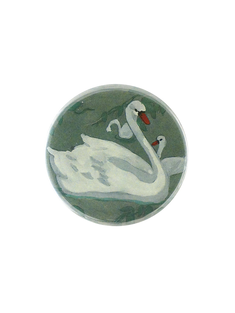 John Derian Swan Pocket Mirror