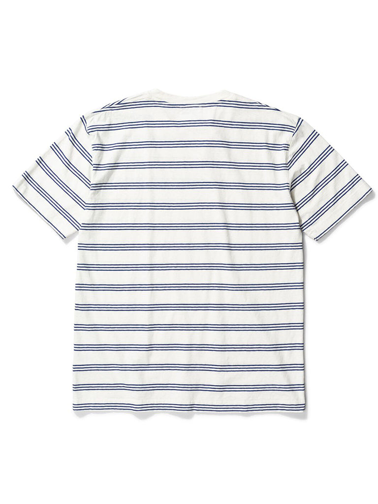 Norse Projects Johannes Stripe T-Shirt in Twilight Blue