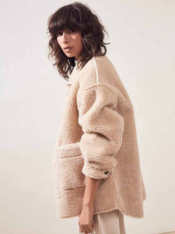 Suncoo Ever Teddy Coat in Beige