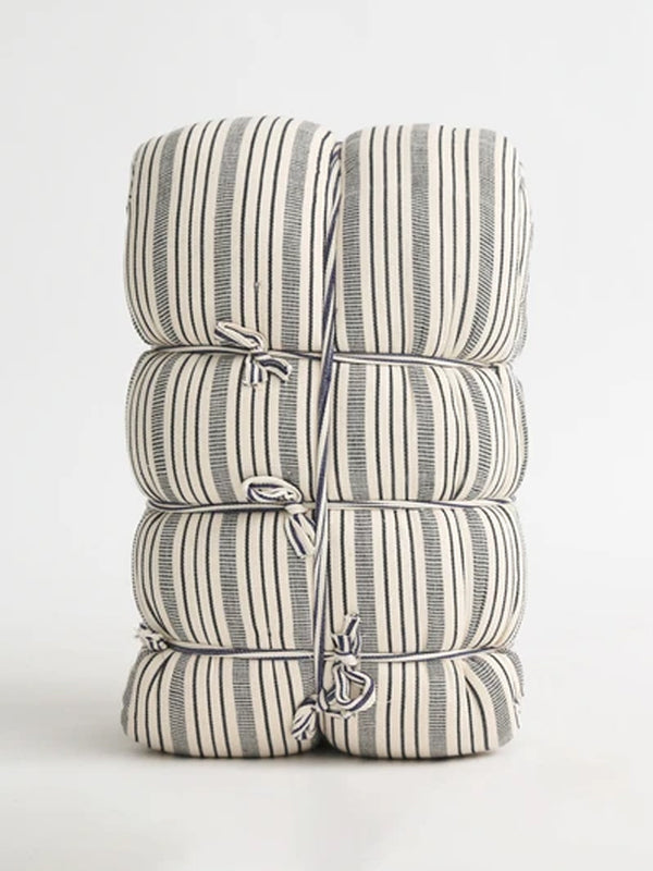 Tensira Kapok Mattress in Blue Stripe