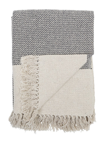 Bloomingville Recycled Cotton Throw in Grey