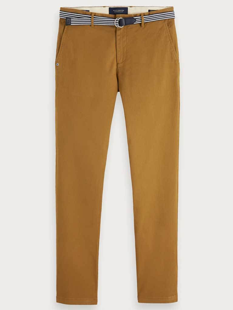 Sctoch & Soda Stuart Chino in Tobacco