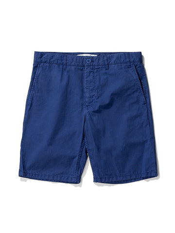 Norse Projects Aros Twill Shorts in Twilight Blue
