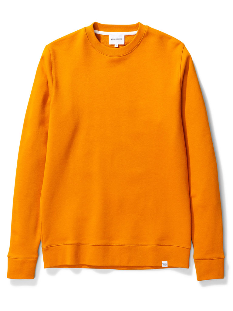 Norse Projects Vagn Sweater in Cadmium Orange