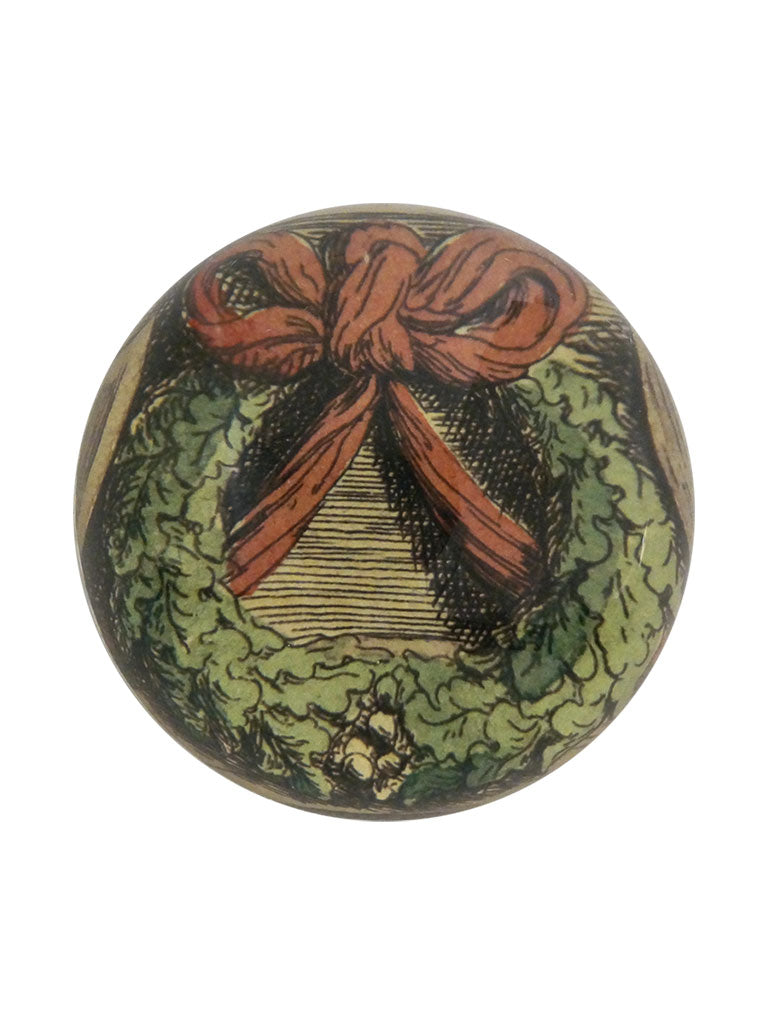 John Derian Ribboned Wreath Paperweight