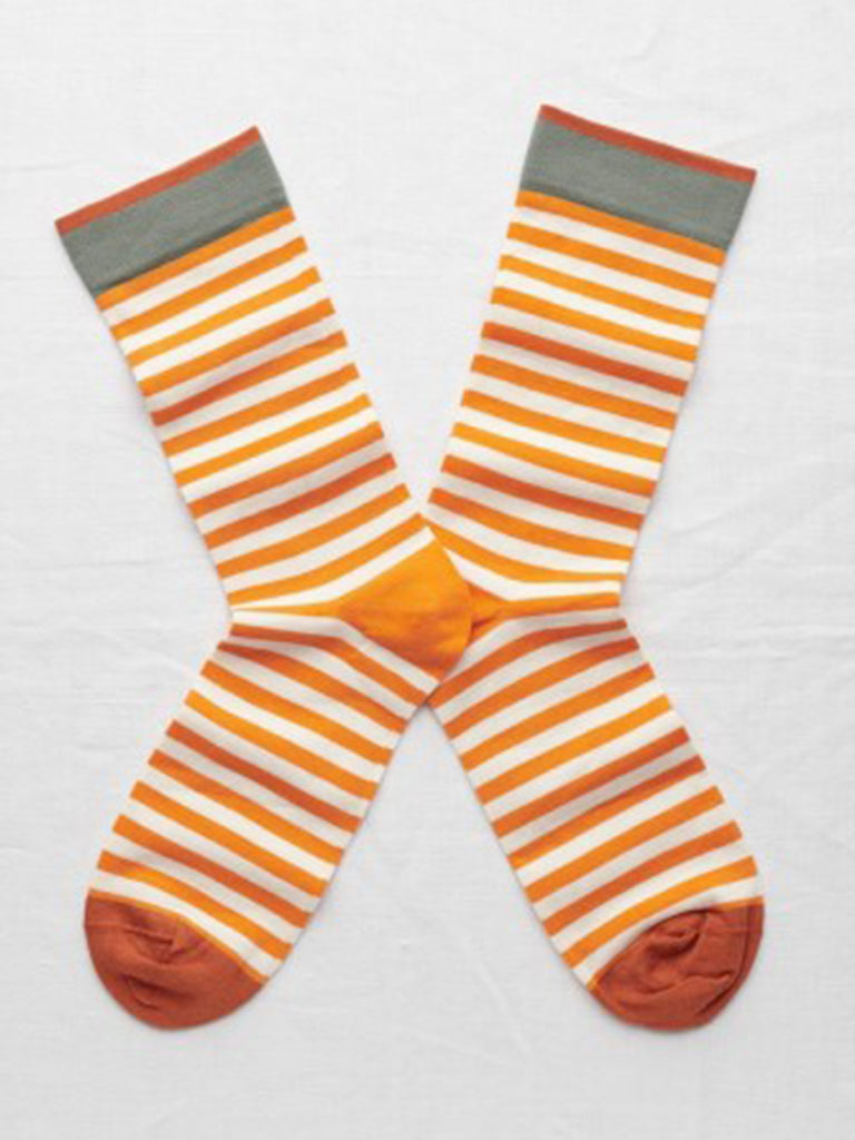 Bonne Maison Stripe Socks in Zest