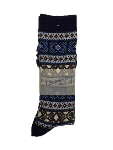 Anonymous-ism Pattern Sock in Navy