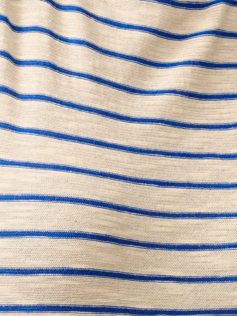 Bellerose Seas Stripe T-Shirt in Blue