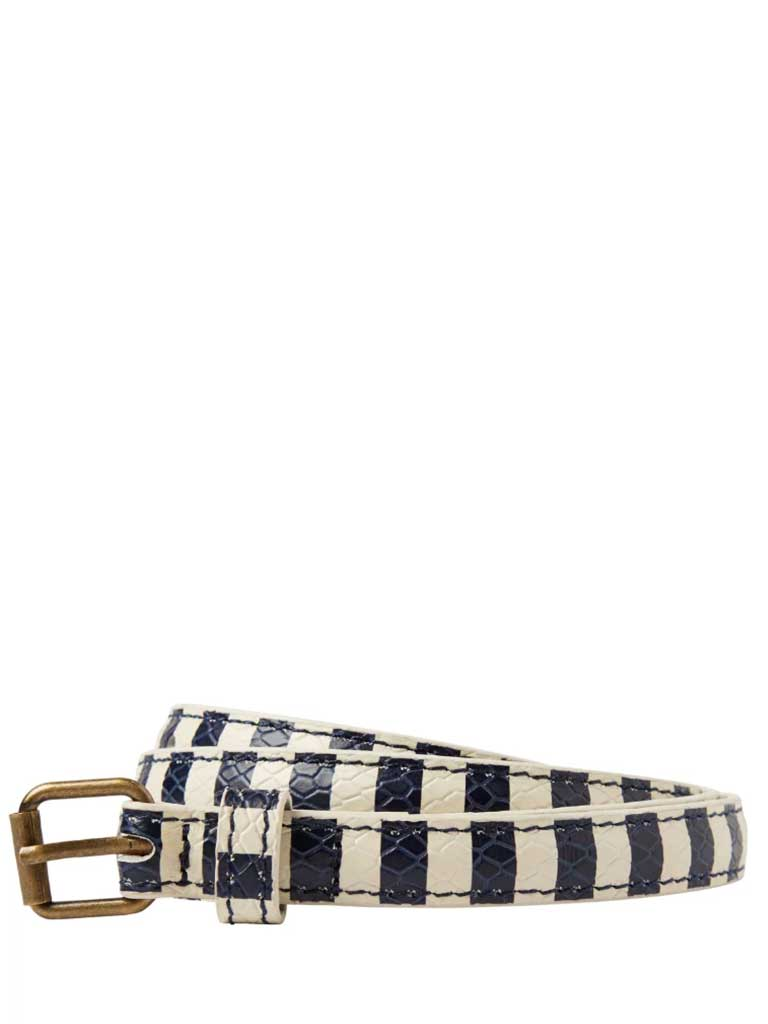 Maison Scotch Stripe Belt in Blue