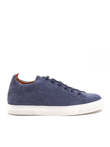Oliver Spencer Ambleside Low-Top Suede Shoe in Blue
