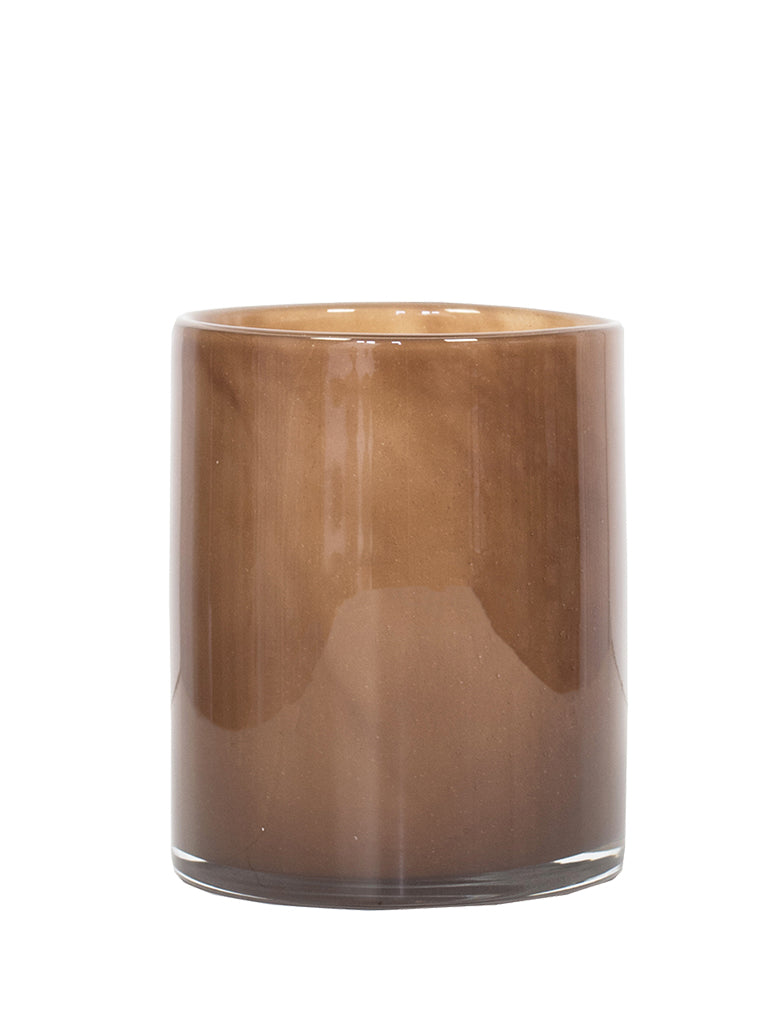 Tell Me More Medium Lyric Brown Candleholder