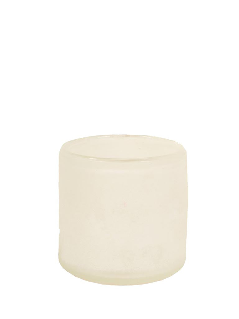 Tell Me More Medium White Candle Holder