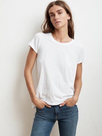 Velvet Tressa T-Shirt in White
