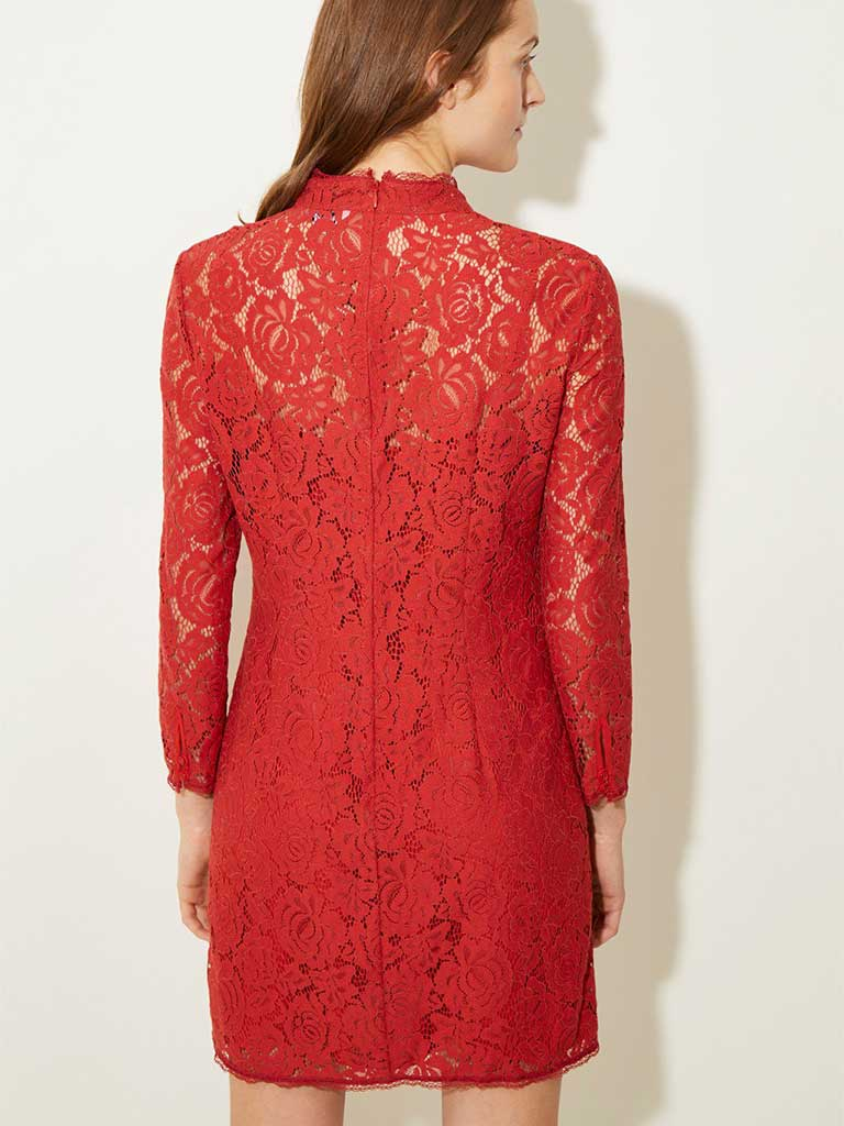 Great Plains Joni Lace Dress in Soft Amber
