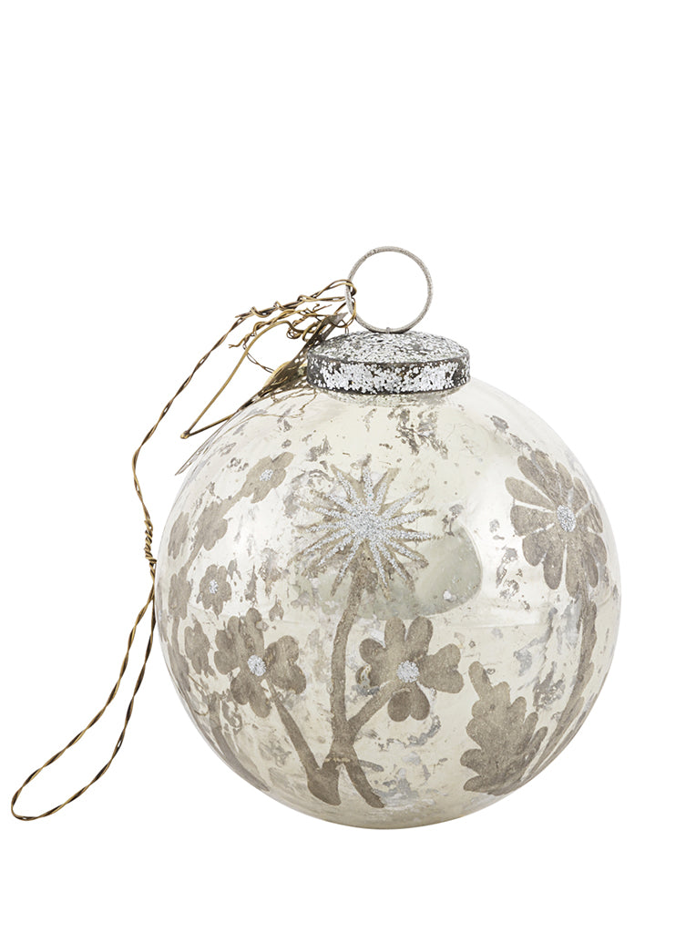 Walther & Co Flower Bauble in Antique Brass