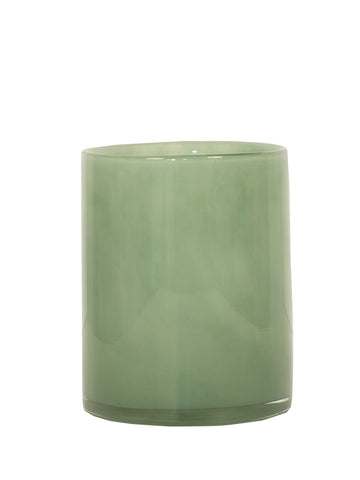 Tell Me More Medium Lyric Green Candleholder