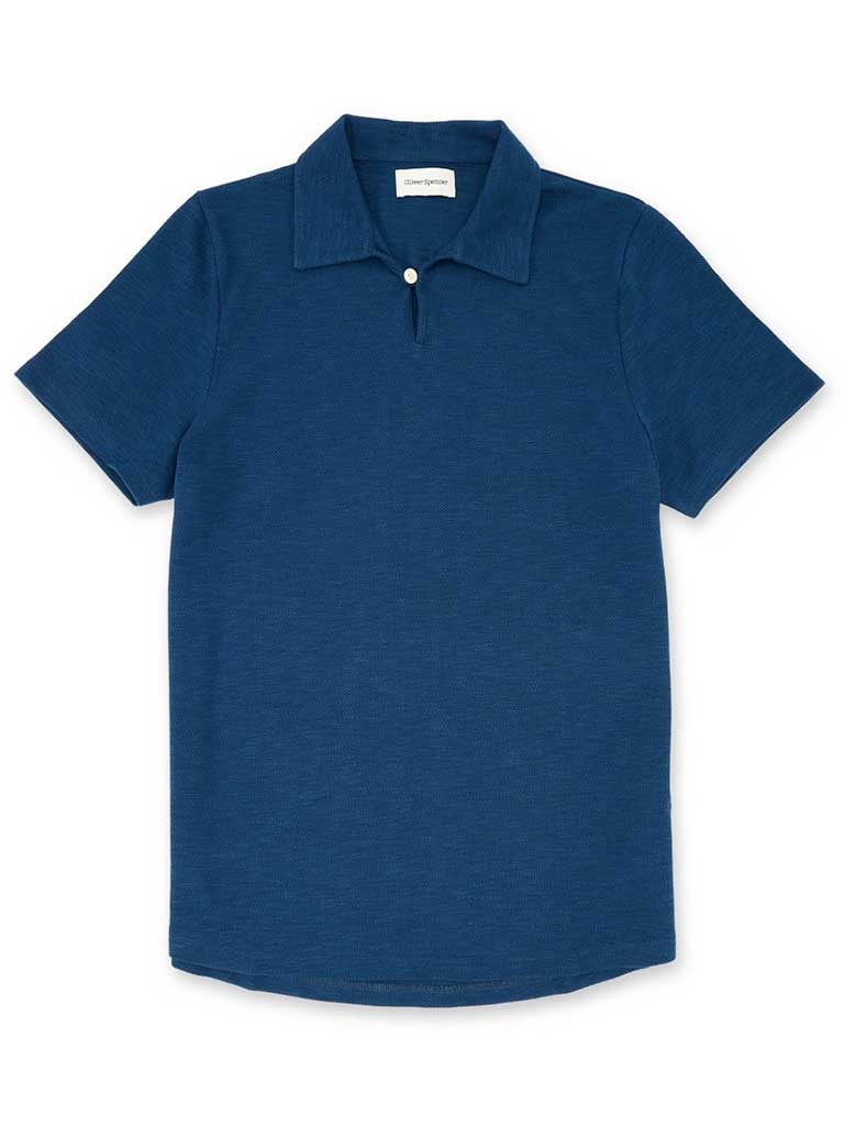 Oliver Spencer Hawthorn Polo in Ashe Navy