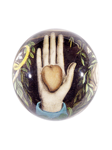 John Derian Heart in Hand Paperweight