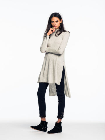 Maison Scotch Tunic Knit in Grey Melange