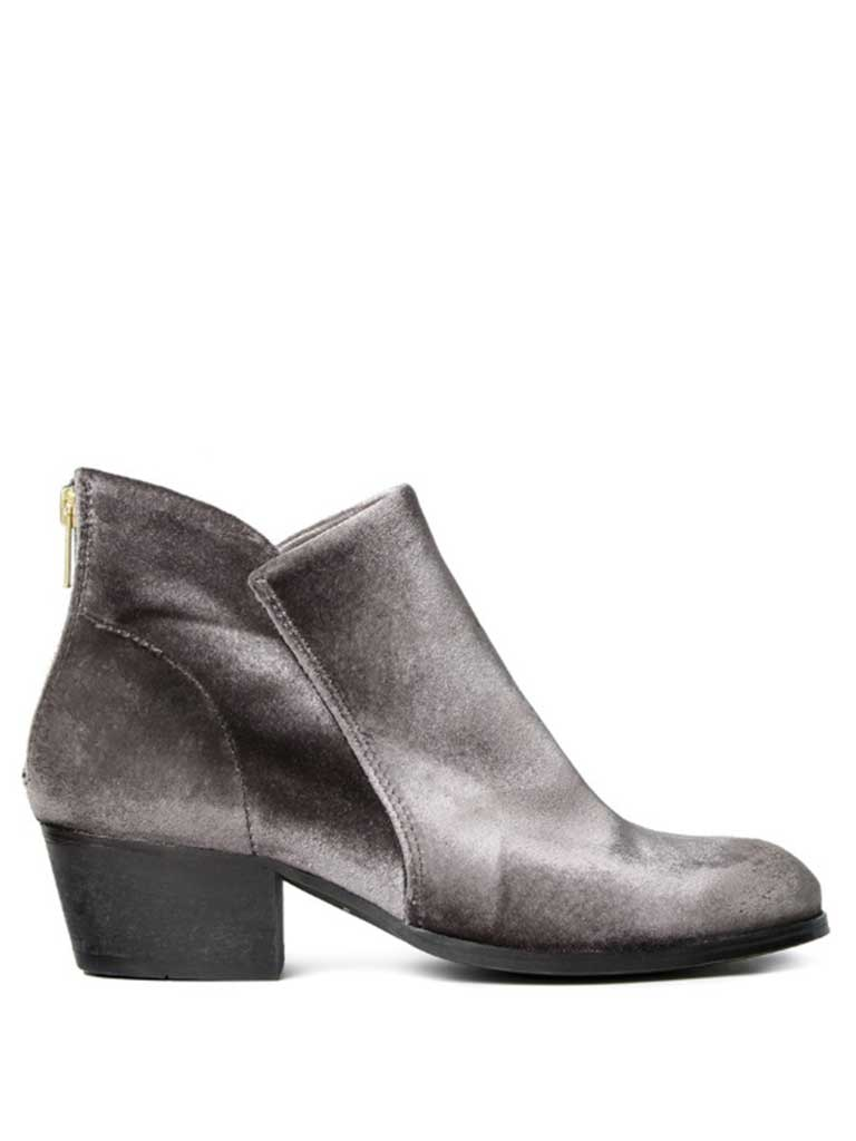 Hudson Apisi Velvet Boot in Grey