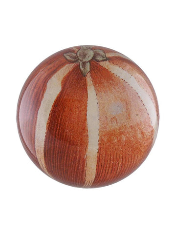 John Derian Striped Orange Paperweight