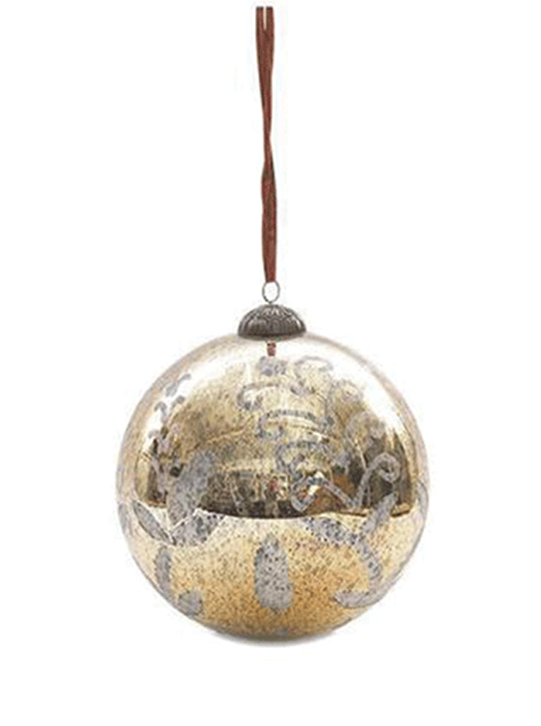 Nkuku Giant large Bauble in Antique Gold