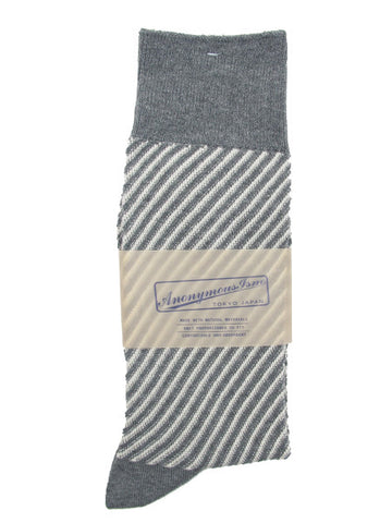 Anonymous Ism Diagonal Sock in Grey