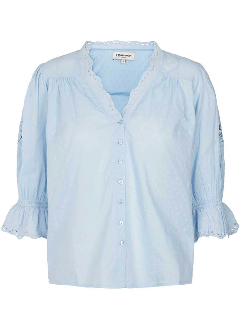 Lolly's Laundry Charlie Blouse in Light Blue
