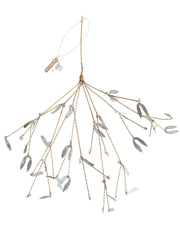 Walther & Co Medium Pearl Mistletoe in Brass and Zinc