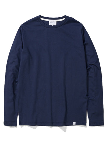 Norse Projects Niels Long Sleeved T-shirt in Navy