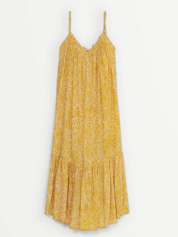 Suncoo Cardi Maxi Dress in Ochre