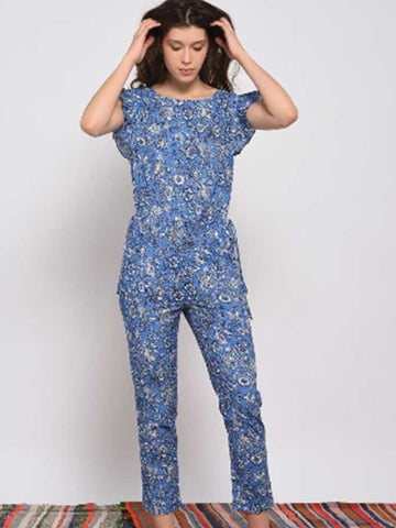 Leon & Harper Olivia Jumpsuit Indian Blue