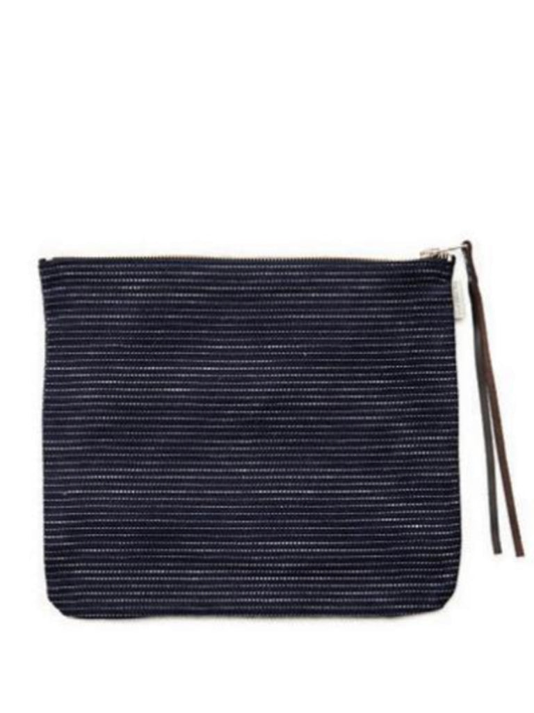 Fog Linen Work Canna Pouch in Pin Stripe
