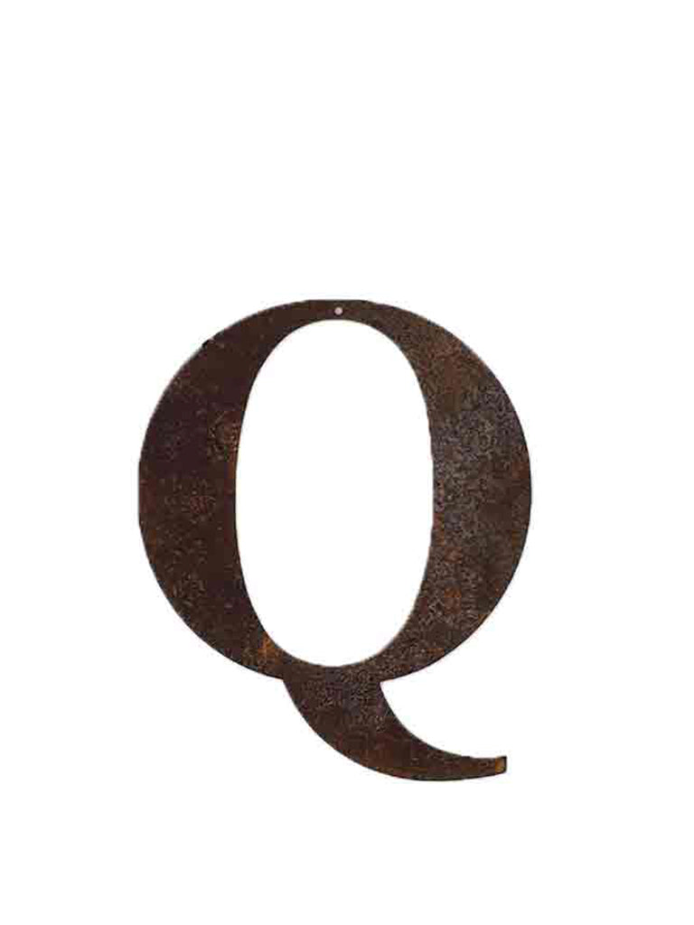 Refound Objects Rusty Letters Q