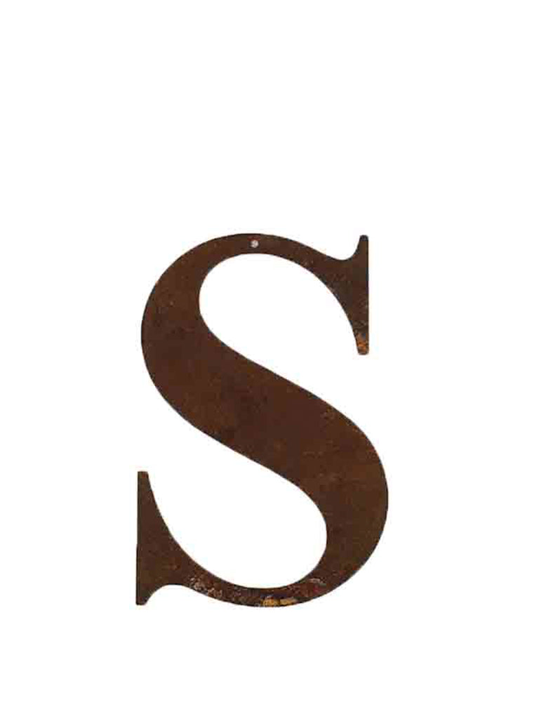 Re-found Objects Rusty Letter S