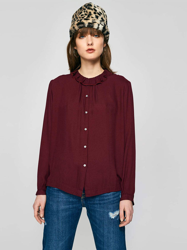 Bellerose Safran Shirt in Burgundy