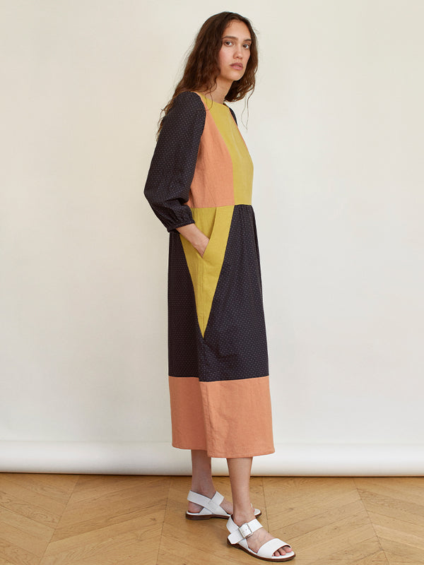 Sideline Peace Dress in Colour Block