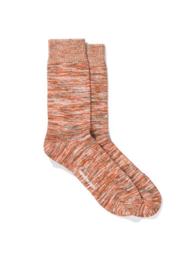 Norse Projects Bjarki Sock in Oxide Orange