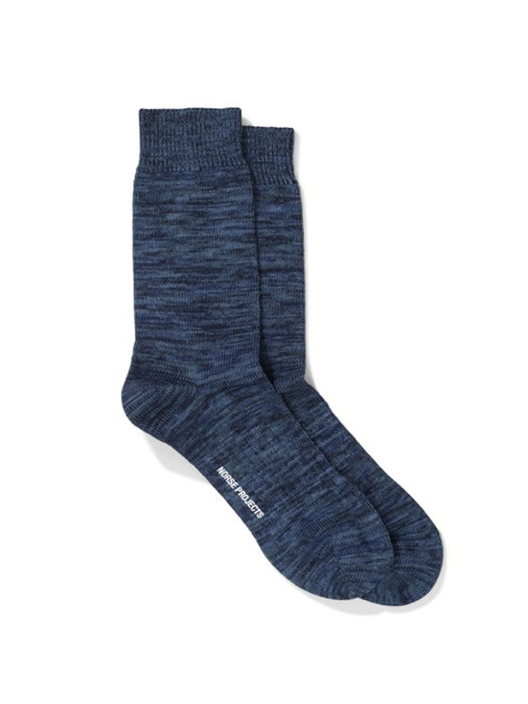 Norse Projects Bjarki Sock in Dark Navy