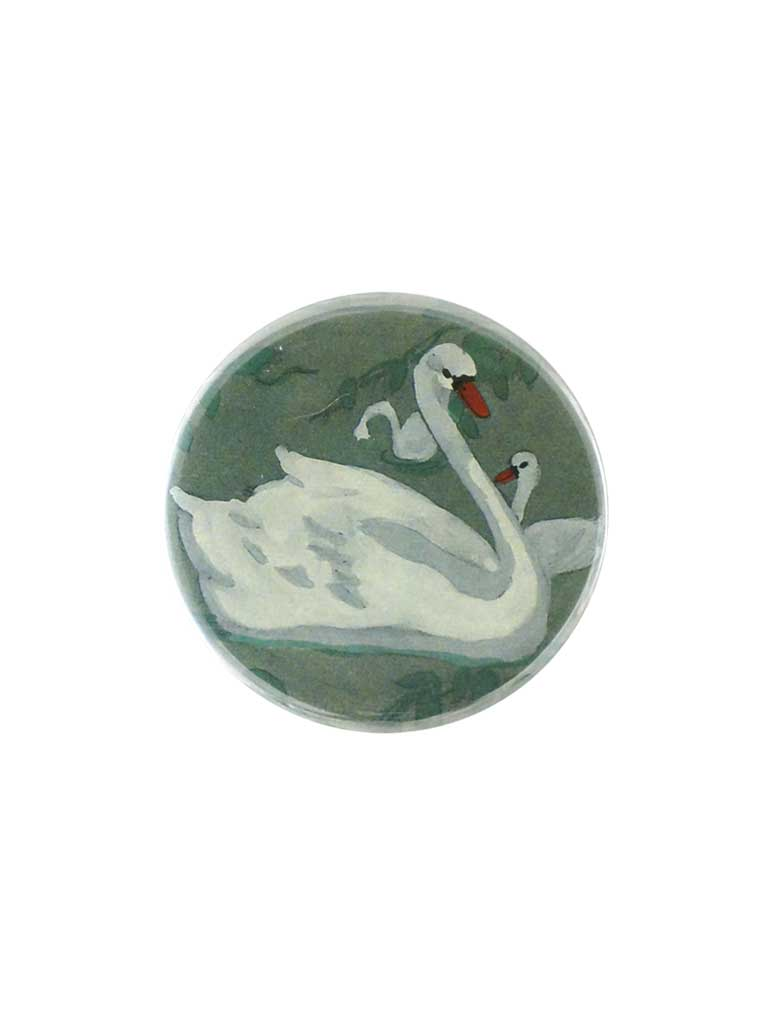 John Derian Swan Button Mirror