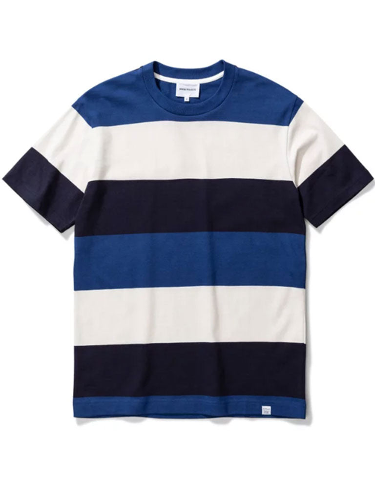 Norse Projects Johannes Border T-Shirt in Twilight Blue