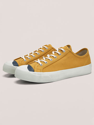 YMC Winged Tip Trainer in Yellow and Navy