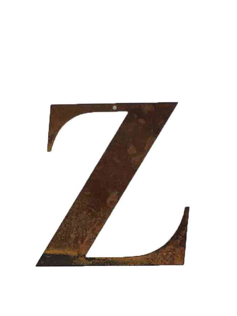 Re-found Objects Rusty Letters Z