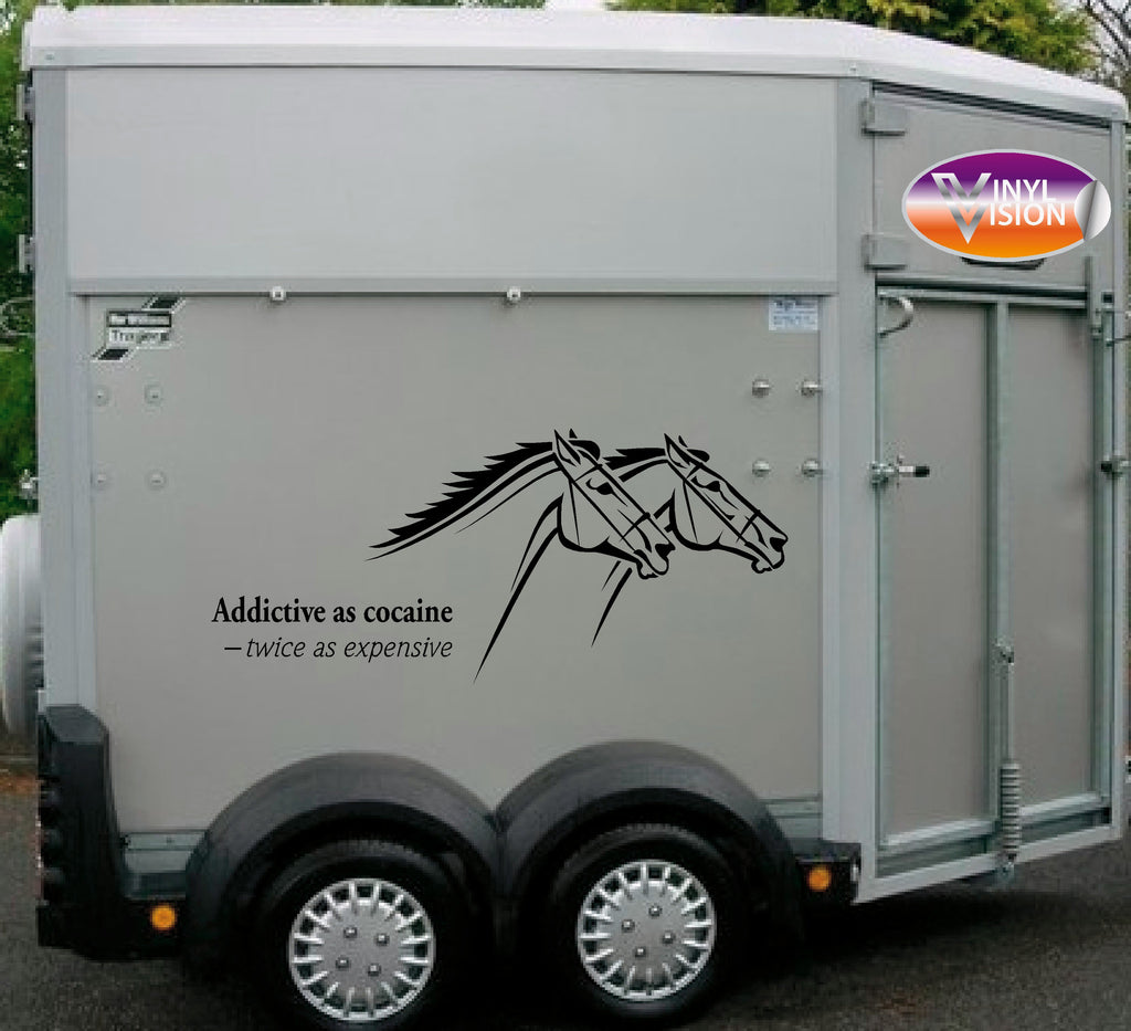 Addicitve Horse lorry, trailer & horsebox sign - Vinyl Vision