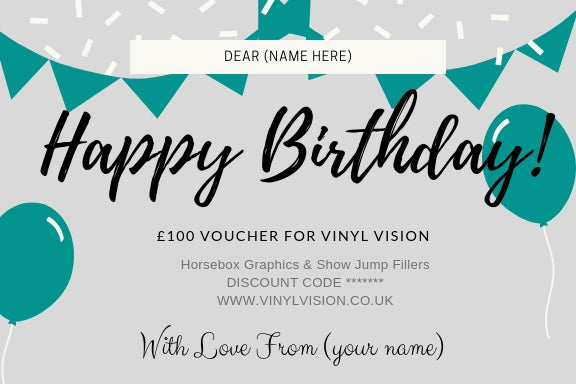 £100 Happy Birthday - Vinyl Vision