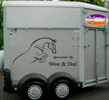 Sponsored By Mum and Dad for car, lorry, trailer, horsebox stickers - small size - Vinyl Vision